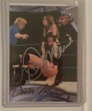 Dawn Marie Autographed WWF Superstar WWE 2004 Fleer Divas card Auto Legend ring