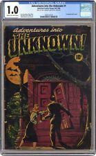 Adventures into the Unknown #1 CGC 1.0 1948 3693122019