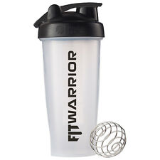 FIT WARRIOR Blender Bottle 28 oz, Clear, Callibrated, BPA-Free, Shaker Cup