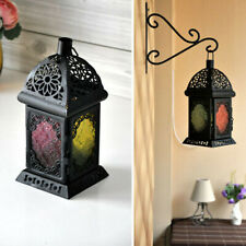 Wind Lamp Wall Hook Balcony European Style Wrought Iron Floral Candlestick DM