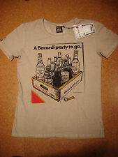 BLOMOR A BACARDI RUM TO GO ADVERTISEMENT GRAPHIC T-SHIRT XL - BRAND NEW - NWT