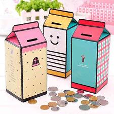 Coin Bank Mini Box Diy Storage Clean Container Saving Desktop Case Paper Money