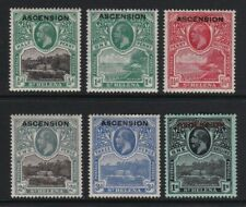 Ascension 1922 part set to 1s - mint hinged £90