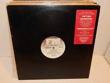 "PETER GORDON Brooklyn 12"" 33 PROMO Club Mix Radio Edit 4 Tracks Mint Synth-Pop"