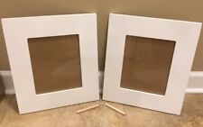 "New 2Pc Pottery Barn Kids Harper Rectangle Frames 8""x10"" White *small issue*"