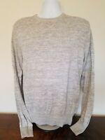 Men's Crew Neck Sweater H&M L.O.G.G Gray Long Sleeve Knit Medium