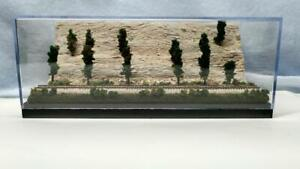 Z SCALE DISPLAY CASE 1 TRACK CLIFF SCENE- FOR ANY Z LOCO & TRAINS  -J3