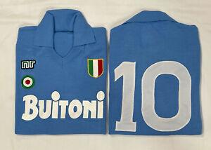 1 maglia xl MARADONA NAPOLI BUITONI 10 1987/88 tessuto acrilico vintage Calcio