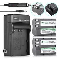 2200mAh EN-EL3e Battery + Wall&Car Charge for Nikon D50 D70 D80 D90 D100 D200