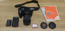 Sony Alpha a100 10.2MP DSLR Camera 18-70 AF lens, battery, charger and 4GB card