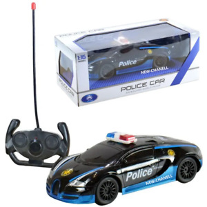 Police Car RC Robot Car Remote Control Kids Boys Toy Sports Cars Gift Black