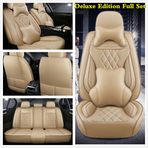 Deluxe Edition 5-Seats Full Set Leather Car Seat Covers For Interior Accessories