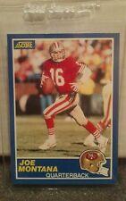 1989 Score Football #1 Joe Montana HOF Quarterback San Francisco 49ers NM-MT