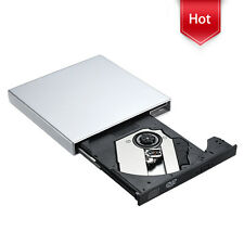 USB 2.0 External CD-RW CD-R Burner Optical Drive with USB Data & Power Cable New