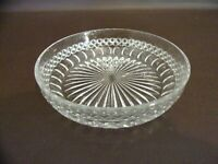 Vintage Clear Glass Bowl Pressed Glass (Unmarked)