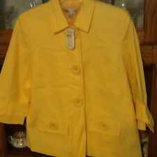 Coldwater Creek size 6 Yellow Lined Jacket Blazer New With Tags $89.50