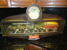 Vintage Original Budweiser Beer Champion Clydesdale Horse Team Lighted Sign