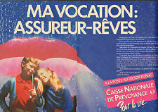 Publicité 1984  ( Double page )  CAISSE NATIONALE DE PREVOYANCE à la Poste ...