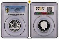 1998 Australia Twenty Cent, 20c 1938 Florin Silver PCGS - PR68DCAM