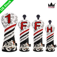 Craftsman Black&White Head Covers for Golf Driver Fairway Hybrid Headcover 1 F H