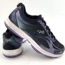 Ryka Women's Devotion Plus 2 Sneaker Size 6.5 Walking Running Shoes Black Purple