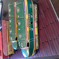 Vintage pre war Marx and more electric train cars and wind-up engine