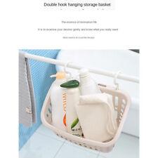 Plastic Hanging Baskets Organizer Bin for Kitchen with Hooks Shower Caddy