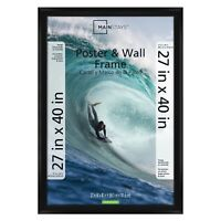 27x40 Poster Photo Picture Frame Large Wall Home Decor Black, NEW