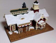 """Thomas Kinkade Hawthorne """"Village Christmas Station"""" ( Limited Edition + Coa )"""