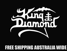 king diamond decal sticker car ute toolbox rock band metal