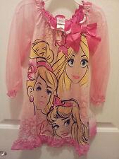 Disney Princess Nightgown Size 4 or 8 Cinderella Aurora Rapunzel Sleepwear NWT