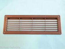PLASTIC AIR VENT IN BROWN  370mm x 130 inc insect net caravan motorhome