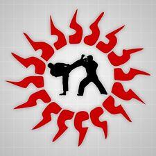 Taekwondo fighters wall decals,Taekwondo Martial Arts Tribals Sun wall sticker