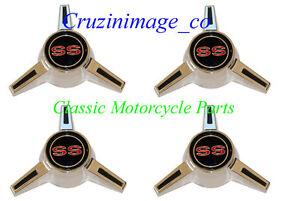 ◇65-66 ImpalaSS 67 NovaSS  Wheel Cover Spinner Assy  with Emblems TP2481