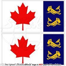 CANADA Garde Côtière Drapeau CANADIENNE CCG Vinyle Stickers Autocollant 75mm x2