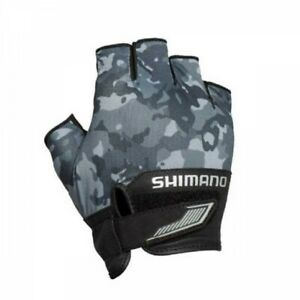 SHIMANO GL-022S Fishing Glove 3D Advance Black Weed Camo Japan with Tracking