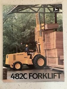 JOHN DEERE 482C FORKLIFT 8 PAGES 1987 Sales Brochure
