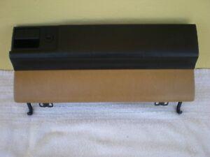 86-89 MERCEDES W124 E320 300E 300TE 300CE 260E GLOVE BOX LID DOOR PALOMINO/BLACK