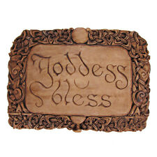 Goddess Bless Wall Plaque - Wood Finish - Dryad Designs - Wiccan Wicca Pagan