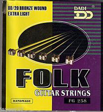 Acoustic 'folk' le corde per chitarra (11 - 49) extra leggero Bronzo Ferita UK