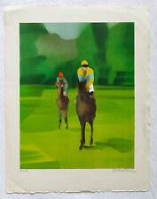 DEFOSSEZ, superbe lithographie, les jockeys, jockey, E A, ALFRED DEFOSSEZ .