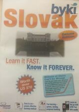 Learn To Speak Slovak - Byki Deluxe Edition - Language Tutor Learning Program