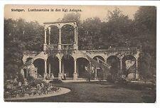 Vintage Postcard Germany Stuttgart Lusthausruine in den Kgl Anlagen