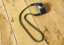 Army green climbing rope handmade camera neck strap