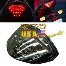 US Tail Light Turn Signal Smoke Chrome LED For Suzuki GSXR1000 K7 2007-2008 New