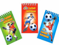6 Football Notebooks - Pinata Toy Loot/Party Bag Fillers Wedding/Kids