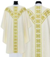 Casula Gotica Crema con stola GY555-K25 Pianeta Paramento liturgico VARI COLORI