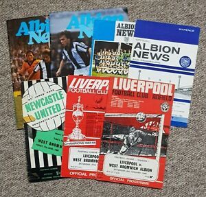 7 West Bromwich Albion Home & Away Football Programmes – 1965-1979 – All Listed