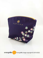 TATCHA Cosmetic Make Up Bag Purse Pouch Japan Maple Leaves Autumn Fall Limited