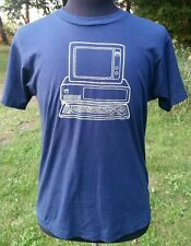 Vintage IBM Personal Computers on Campus 1980s Blue Mens T Shirt XL USA